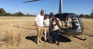 Mopiri-Heli-Horizons-team-exploring-the-area-around-Mopiri